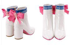 Sailor Moon Cosplay, Sailor Moon Boots, Sailor Moons, Sock Shoes, Cute Shoes, High Heel Boots, High Heels, Sailor Moon Merchandise, Dolls Kill Shoes
