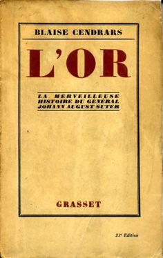 L'Or - Grasset - 1925