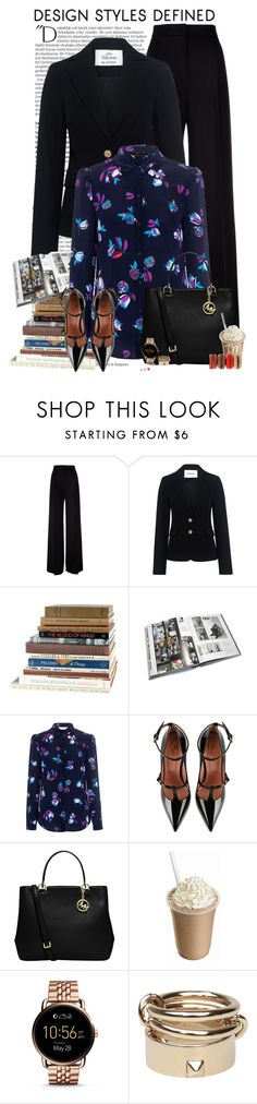 """XO#898"" by xbonjourbelleo ❤ liked on Polyvore featuring Balmain, MaxMara, 10 Crosby Derek Lam, GESTALTEN, Rebecca Taylor, RED Valentino, MICHAEL Michael Kors, FOSSIL, Valentino and officewear"