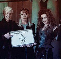 Honestly I already look like I could be related to them. Why can't it be tru… Honestly I already look like I could be related to them. Why can't it be true. I love Dracos mom. Mundo Harry Potter, Harry Potter Actors, Harry Potter Fandom, Harry Potter Universal, Harry Potter Memes, Harry Potter World, Draco Malfoy, Severus Rogue, Bellatrix Lestrange