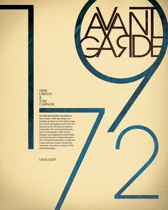Avant Garde Typography Poster by Britt Gerhard, via Behance