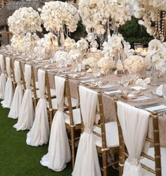 Simple But Elegant White Chiffon Wedding Chair Cover And Sashes Romantic Bridal Party Banquet Chair Back Wedding Favors Wedding Reception Chairs, Wedding Chair Sashes, Wedding Chair Decorations, Wedding Sash, Wedding Table Centerpieces, Wedding Table Settings, Wedding Flowers, Centerpiece Flowers, Wedding Chair Covers
