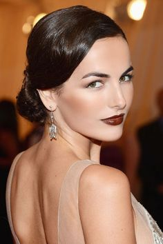 Lady is a Vamp: Best Dark Lips of 2012 - Camilla Belle Gorgeous glamour makeup I can do using eco beauty products:)