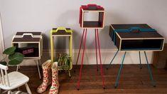 Série de meubles d'appoint dessinés par Gaspard Graulich
