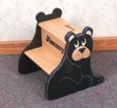 Black Bear Step Stool Wood Pattern This cute little bear safely gives children e. - Furniture Wood Plans - Black Bear Step Stool Wood Pattern This cute little bear safely gives children extra height needed - Woodworking Dust Mask, Woodworking Merit Badge, Woodworking Workshop Plans, Woodworking Shows, Woodworking Patterns, Custom Woodworking, Woodworking Projects, Woodworking Equipment, Woodworking Joints