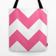 Pink Simplify Tote Bag #tote #society6 #endlesssummer #chevron #zigzag #pink