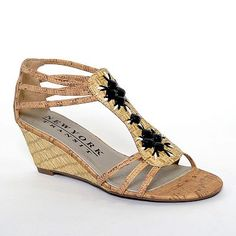 New York Transit Great Combination T-Strap Wedge Sandals - Women
