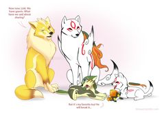 Sharing is Caring by Ferisae.deviantart.com on @deviantART (THIS IS TOO CUTE OH MY GOD *dies from how cute this is*)