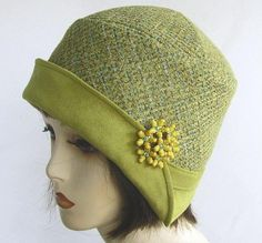 Vintage Flapper Hats for Women | Vintage Flapper 1920s Reproduction Cloche Hat by BuyGail on Etsy