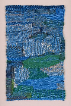 Sheila Hicks, Falcon and Eye (blue, gold), cotton, metallic fibres and sil… - FIBER ART Weaving Textiles, Textile Fabrics, Weaving Art, Loom Weaving, Tapestry Weaving, Textile Texture, Textile Fiber Art, Textile Artists, Yale School Of Art