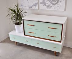Poppytalk: Before and After: Mid-Century Asymmetrical Dresser