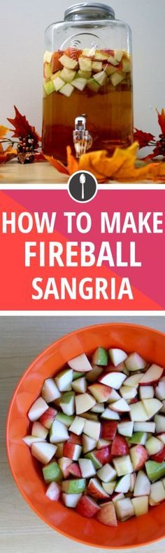 How to Make Apple Cider Fireball Sangria {wine glass writer}