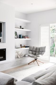 After three stages of renovations and withthe help of an interior designer friend Nikki Yazxhi creator and editor of lifestyle website bellaMUMMA and husband Adam creative director at Maxco finally completed their Forever family home. Living Room Interior, Home Living Room, Home Interior Design, Living Area, Living Room Designs, Living Room Decor, Living Spaces, Bedroom Decor, Lounge Room Designs