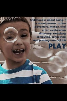 Early Childhood Quotes & Posters - Childhood is about doing…. Play Based Learning, Learning Through Play, Early Learning, Kids Learning, Preschool Quotes, Teaching Quotes, Education Quotes, Kindergarten Quotes, Preschool Ideas
