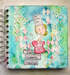 Love this notebook by Andrea for the Simon Says Stamp Monday challenge with a Royal Theme.