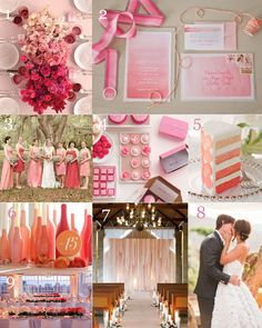 The Very Indecisive Bride: A little bit late, Pink Ombre Valentine's Inspiration #pink #ombre #valentines #wedding
