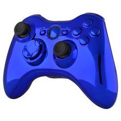 Custom Full Chrome Deep Blue Kits Housing For Xbox 360 Controller Shell Xbox 360 Controller, Chrome Colour, Kit Homes, Video Game Console, Deep Blue, Shells, Games Consoles, Video Games, Buttons