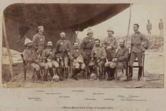 Offcers of the Queen's Own Corps of Guides, 1878. One of the most famous of the Indian Army regiments of the British era, the corps was formed in 1846. With a unique structure that included both cavalry and infantry in the same regiment, the guides saw extensive service on the Northwest Frontier, including the Second Sikh war, the Mutiny, the Second Afghan War, and dozens of smaller engagements. The first British regiment with khaki uniforms, they still exist as a unit of the Pakistani army.