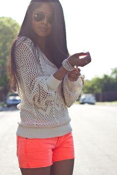 <3 those shorts and bracelet