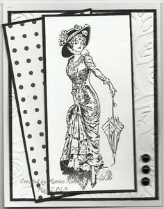 card by Marion Rivas using image from Create with TLC    I love the b/w but I think I might also like to add a touch of color--one color on one little thing