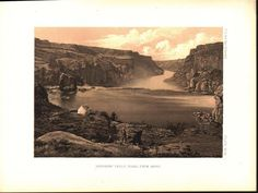 Shoshone Falls Idaho Antique Nature View Timothy O'Sullivan Print 1870