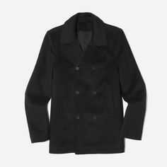 The Quilted Peacoat - Everlane Wool Cashmere Blend $150