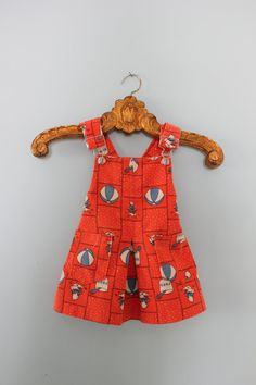 Vintage 3T Winnie the Pooh Overalls Dress by TheTinyCoyote on Etsy