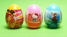 3 Surprise Eggs - Mia and Me, Hello Kitty Super Surprise Egg & Frozen Su...