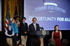 President Barack Obama spoke last year at the first-ever White House Student Film Festival. This year's event will feature a documentary about the efforts of a student with cerebral palsy to make his high school more accessible. (Olivier Douliery/Abaca Press/TNS)