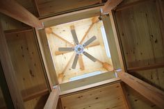 Cupola with a ceiling fan in a farm house roof. House Roof, Farm House, Ceiling Fans, Green Building, Sustainable Design, Mirror, Architecture, Home Decor, Arquitetura