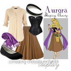A fashion look from October 2011 featuring Dorothy Perkins blouses und skirts. Browse and shop related looks. Disney Themed Outfits, Disney Bound Outfits, Disney Dresses, Disney Cosplay, Disney Costumes, Casual Cosplay, Cosplay Outfits, Sleeping Beauty Costume, Aurora Sleeping Beauty