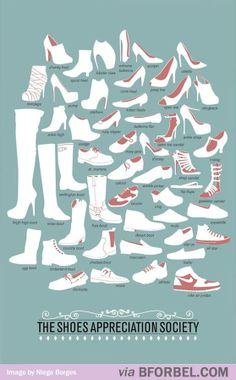 The Curious Brain » The real names for all kinds of shoes