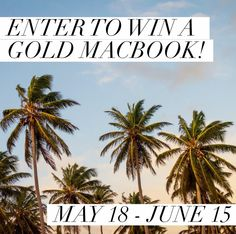 Enter to #Win a Gold Macbook in this amazing #giveaway