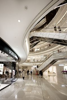Benoy-designed iAPM breaks the retail mould for Shanghai « PRC Magazine Shoping Mall, Shopping Mall Interior, Retail Interior Design, Interior Shop, Atrium Design, Airport Design, Mall Design, Commercial Architecture, Architecture
