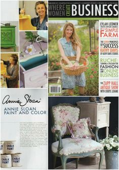 Annie Sloan featured in the 2013 winter edition of Where Women Create BUSINESS magazine!