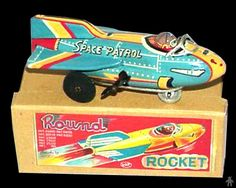 Space Rockets - SPACE PATROL ROUND ROCKET - ASAHITOY ATC - JAPAN - ALPHADROME ROBOT AND SPACE TOY DATABASE