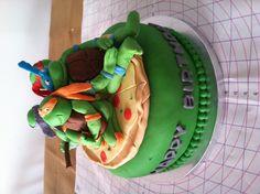 Teenage Mutant Ninja Turtles cake Ninja Turtle Birthday Cake, Turtle Birthday Parties, Ninja Turtle Party, Ninja Turtles, Birthday Ideas, 5th Birthday, Tmnt Cake, Character Cakes, Let Them Eat Cake