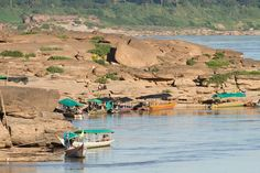 Sam Phan Bok Canyon in Ubon Ratchathani in eastern Thailand seen from the Mekong River