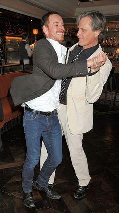Michael Fassbender and Viggo Mortensen