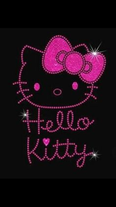 Hello Kitty Rhinestone Glitter Vinyl IronOn By MPShineDesigns