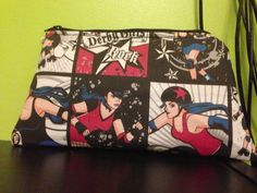 Roller Derby Makeup Bag