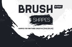 Brush Stroke Shapes by YD-LABS on Creative Market