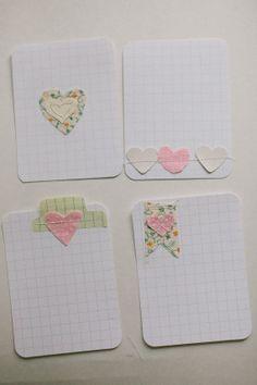 4 pack of Valentines Hearts Embellished by lovelindseyhandmade, $3.50