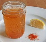 Homemade Congestion Clearing Remedy : 1/4 cup water + 1/4 cup unfiltered apple cider vinegar + 1 tablespoon honey + 1 teaspoon cayenne pepper + 1 wedge lemon. Bring water to a boil; combine hot water and vinegar in a small glass or mug; add honey and pepper, stir well. Top off with a squeeze of lemon. Take a deep breath of the mixture, and start drinking.