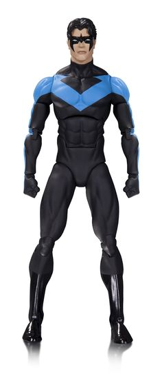 """DC Collectibles Icons Nightwing Action Figure. From the classic DC Comics. Figure stands 6"""" tall. Heavily articulated figure. Interchangeable hands. Accessories included."""