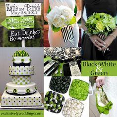 Black, White and Green Wedding | #exclusivelyweddings