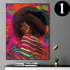 African-American Woman Vector Beauty Woman, African Art, Canvas decoration for living room, Housewarming Gift, Black Woman Art Comic Poster, New Poster, Decorating With Pictures, Nature Illustration, Black Women Art, African American Women, Minimalist Art, Beautiful Artwork, African Art