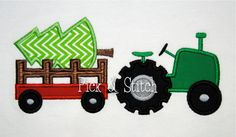 Hey, I found this really awesome Etsy listing at http://www.etsy.com/listing/167513729/christmas-tree-tractor-applique-machine