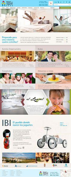 Web Hotel del Juguete, Ibi, España #diseño web hoteles
