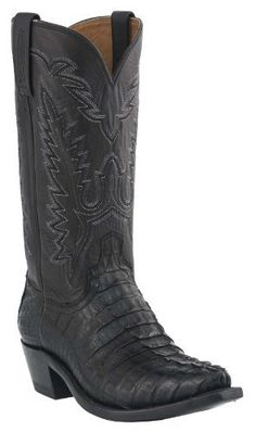 Lucchese Men's Handcrafted 1883 Hornback Caiman Tail Cowboy Boot Snip Toe Black US - http://authenticboots.com/lucchese-mens-handcrafted-1883-hornback-caiman-tail-cowboy-boot-snip-toe-black-us-2/